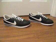 Lightly Used Worn Size 11.5 Nike Cortez Basic Leather '06 Shoes Black White
