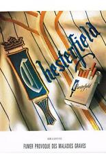 PUBLICITE ADVERTISING   1992    CHESTERFIELD  cigarettes