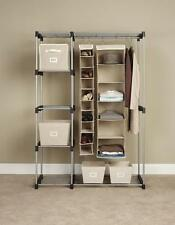 Garment Clothes Rack Shelf Organizer Wardrobe Closet Double Rod Hanging Storage