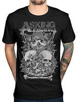Official Asking Alexandria Skull Stack Men's NEW T-Shirt Retro Band Tour Merch