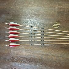 Gold Tip Traditional 400 Arrows With Brass Inserts Custom Made Set of 6