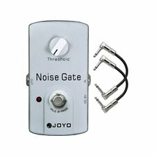 Joyo JF-31 Noise Gate Noise Reduction Gate Guitar Effect Pedal w/ 2 Patch Cables