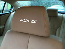 MAZDA RX-8 CAR SEAT / HEADREST  - BADGE - Vinyl Stickers - Graphics X5