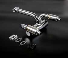 Aluminum RC TWIN Exhaust Pipe with Silencer fit HPI BAJA RV KM 5B 5T 5SC