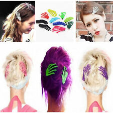 10 PCs Cute Creepy Plastic Skeleton Hand Hair Clip Hairpin for Women Girls SW