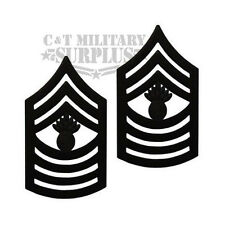 USMC E-9 Master Gunnery Sergeant Collar Rank Pin On Black