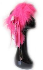 PINK FAUX FURRY FUR HEAD BAND WARMER - PIXIE FESTIVAL WINTER SNOW INDIE RAVE
