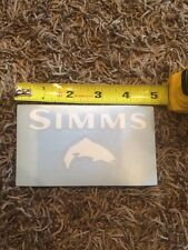 """Simms White Trout Fly Fishing Sticker Decal 5"""""""