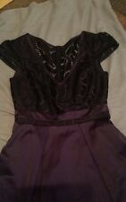 New KAREN MILLEN Lace Bodice Panelling Party Dress BNWT UK 10 Black Purple DT246
