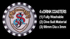 4 x AJS A.J. STEVENS EARLY LOGO MOTORCYCLE MOTOR CYCLE DRINK COASTERS -