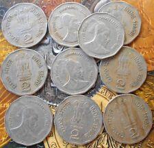 10 Coins LOT - 2 Rupees (Chhatrapati Shivaji) 1999 Commemorative: Chhatrapati