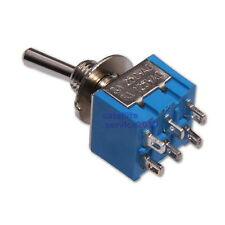 MTS-203 Miniature Toggle Switch DPDT ON-OFF-ON 6-poles 3-positions