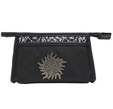 Supernatural Anti-Possession Symbol Metal Badge Cosmetic Makeup Bag Rare NWT!
