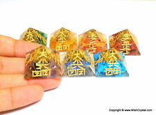 Reiki Energy Charged Complete Set Of 7 Chakra Orgone Pyramid Crystal Healing Uk