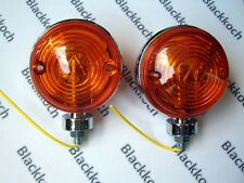 Pair Universal Amber Double Face Turn Signal 12V Warning Light 3 inches