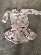 Petit Bateau Cute  Floral Sweater And Skirt Outfit, 4