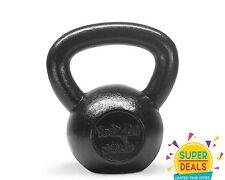 Yes4All Kettlebell solid Cast Iron Cap Super Fitness Exercise 35 lbs - ²KJ24F