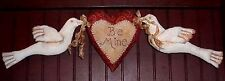 Primitive Pattern Be Mine Doves and Heart Wall hanging to make Beautiful! #smf