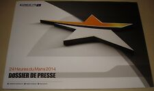 Le Mans 2014 WEC Oreca Press Media Guide Featuring Rebellion R-ONE TS040 French