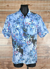 Matthew Williamson H&M Flowers Short Sleeve Men Shirt Size XL, Genuine