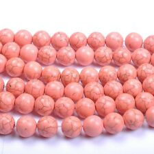 30Pcs Pink TURQUOISE Round Charms Loose Spacer BEADS 8MM