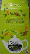 ENGLISH TEA SHOP LEMON GRASS GINGER & CITRUS  16 PYRAMID  TEA INFUSERS 32g