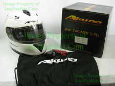 BRAND NEW AKUMA FROST Motorcycle Helmet 3X-Large with LED Lights XXXL White