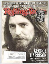 ROLLING STONE MAGAZINE, George Harrison, September 15, 2011