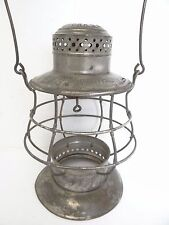 Antique Old Dietz No 6 New York Central Bell Bottom Train Railroad Lantern Cage