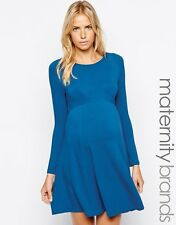 NWT - ISABELLA OLIVER Women's 'CREW NECK' Bali Blue SKATER MATERNITY DRESS - 3