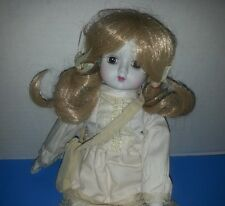 Porcelain Doll 1982 no.711628 made in Taiwan for B and E Sales - Porcelain & Rag