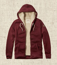 New Hollister Men's Guys Patterned Sherpa Lined Hoodie Size Medium