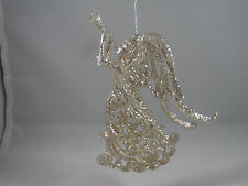 Champagne Angel Playing Trumpet Christmas Tree Ornament new holiday