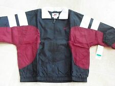 New NIKE Windbreaker, Wine/Black/White  1996 dead stock Vintage, SZ: XL