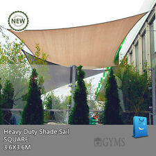 SHADE SAIL 3.6M x 3.6M 3.6x3.6m 3.6by3.6m 3.6mx3.6m Square Beige Sand color