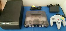 N64 Clear Smoke Funtastic Console Bundle-100% Authentic & N64 Game Storage Case!