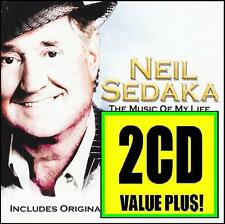 NEIL SEDAKA (2 CD) THE MUSIC OF MY LIFE + GREATEST HITS ~ 70's POP MOR *NEW*