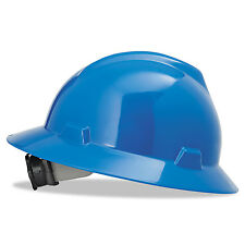 MSA V-Gard Hard Hats Fas-Trac Ratchet Suspension Size 6 1/2 - 8 Blue 475368