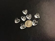 25 pcs Crystal Clear 12X12mm Cute Faceted Heart Shaped Acrylic Beads