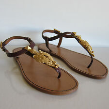 F-13111158 New Valentino Flat Sandals Red with Gryphon Marked 37 US 7