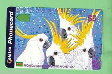 1995 SINGAPORE EXHIBITION  COCKATOO  AUSTRALIAN  MINT $5  PHONECARD