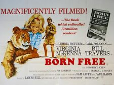 "Born Free 16"" x 12"" Reproduction Movie Poster Photograph"