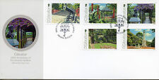 Gibraltar 2016 FDC Alameda Gardens 200th Anniv 5v Set Cover Flowers Trees Stamps