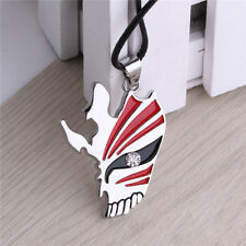 BLEACH Anime Kurosaki ichigo Mask Logo Metal Necklace Unisex Chain Pendant