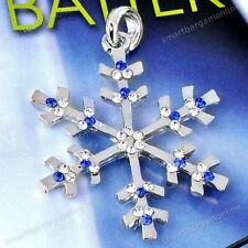1pc Crystal Snowflake Charm Bead Pendant For Necklace Jewelry Women Girl Gift