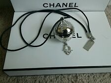 Christian Dior Beauty DiorLight Silver Tone Jewel Ball Locket Lip Gloss Necklace