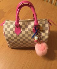 Authentic Louis Vuitton Speedy 25 Damier Azur Pink
