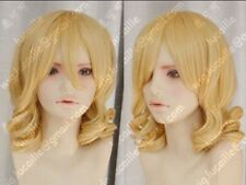 Young plum Rozen Maiden/MEIRA Short Blonde curly cosplay Wig