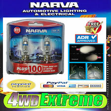 NARVA H11 GLOBES PLUS 100 PERFORMANCE 12V 55W 48349BL2 LIGHTS HEADLIGHTS