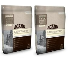 2 x 11.4kg Acana Heritage Light and Fit Adult Barf Dry Low Carbohydrate Dog Food